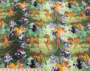 Bambi, digital printing swim fabric, brushed poly knit, minky   - 1 meter