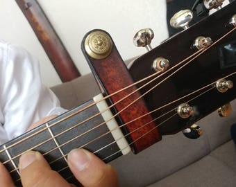 Leather Acoustic Guitar Strap Button Holder Adapter