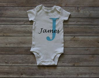 Personalized Baby Onesie Name & Initial
