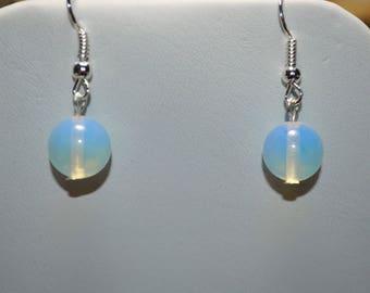 Opalite Earrings . Blue Stone Earrings . Gifts Under 10 Dollars . Stocking Stuffers . Blue Earrings . GIft For Her