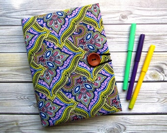 Notebook for sketches, sketchbooks, Notebook handmade fabric cover, textile book cover, drawing pad.