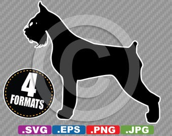 Schnauzer Dog Clip Art Image - SVG cutting file Plus eps (vector), jpg, & png - INSTANT DOWNLOAD - Die Cut Sticker/Decal