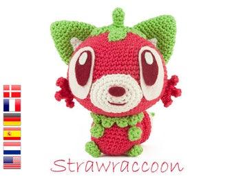 Crochet pattern Strawraccoon