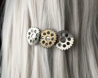 Bent Gear Wasteland Hair Clip - Hair Accessories for Women - Gothic Prom Hair Accessories - Steampunk Hair Clip - Hair Barrette