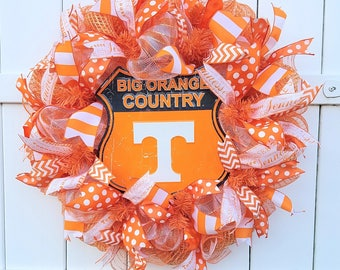 Tennessee Wreath, University of Tennessee Wreath, Tennessee Vols Wreath, Tenn Wreath, Tenn Vols Wreath, TN wreath, TN Football, Vols Wreath