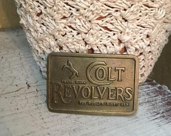 Small Vintage Colt Revolver Belt Buckle