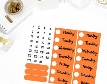 Solid Covered Date Cover Up Stickers! Perfect for your Erin Condren Life Planner, calendar, Paper Plum, Filofax!