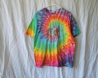 SALE 90s Tie Dye Hershey T-Shirt