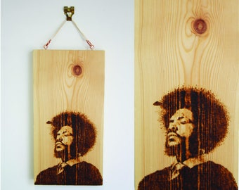 Pyrography on Pine Wood