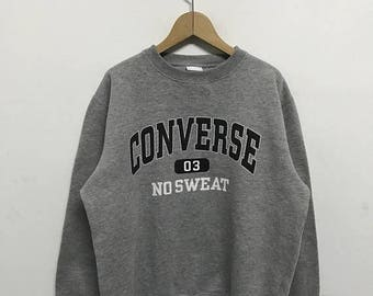 20% OFF Vintage Converse Sweatshirt/Converse Usa/Converse Sweater/Converse Spell Out