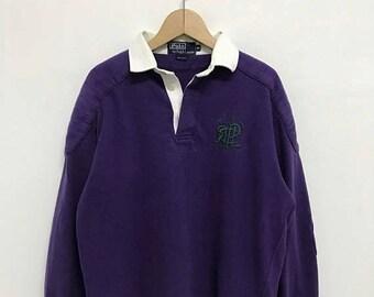 20% OFF Vintage Polo Ralph Lauren Rugby Shirt/Ralph Lauren Shirt/Polo Sport