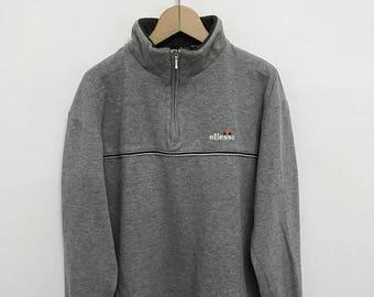 20% OFF Vintage Ellesse Embroidery Logo Half Zipper Sweater/Casual Shirt/Ellesse Sweater/Ellesse Tennis Shirt/Ellesse Sportwear/Ellesse Pull