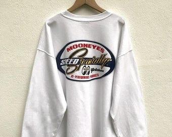 20% OFF Vintage Mooneyes Sweatshirt / Mooneyes Speed Specialty Yokohama Hi-Performance Products / Mooneyes Racing Sweater