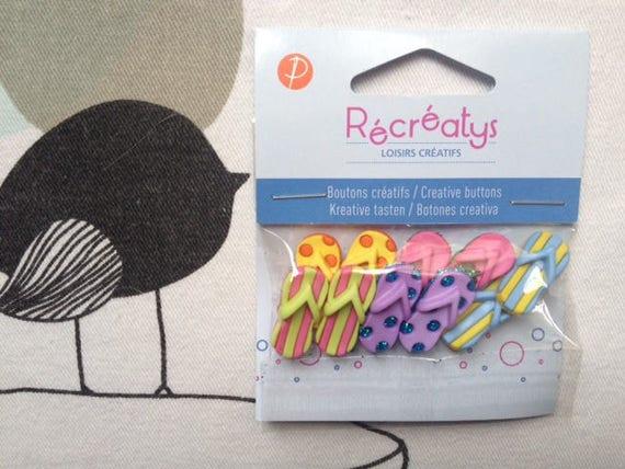 Flip flops - Recreatys plastic buttons