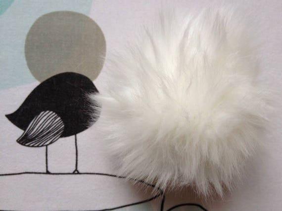 White POMPOM IMITATION fur - white horse