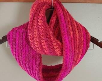Infinity Scarf, Pink/Orange