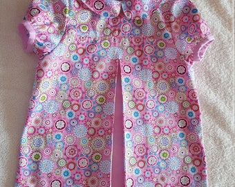 Dress baby girl 9 / 12 months pink print multicolored