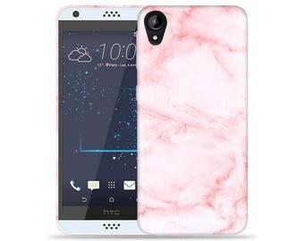 HTC Desire 530 Case - D530 Case #Pink Marble Cool Design Hard Phone Case
