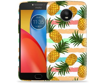 Motorola Moto E4 Case - Motorola E4 Case #Summer Pineapple Hard Phone Cover