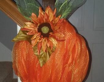 Handmade Pumpkin Doorhanger