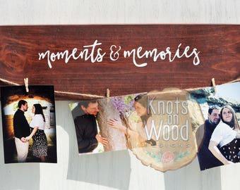 Wooden Photo Hanger/Rustic Photo Display/Farmhouse Style Photo Hanger/Photo Display/FRIENDS Theme/Wooden Photo Display/Picture Frame/