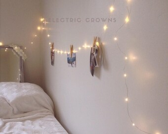 Bedroom Fairy Lights, Bedroom Decor, String Lights, Dorm Decor, Hanging