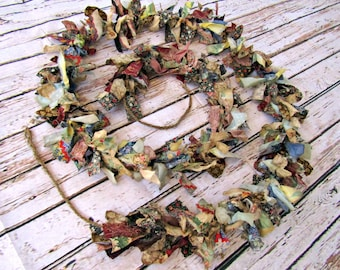 primitive decor , rag garland , trending , home decor , primitive , decor , country decor , country primitive decor , primitive garland