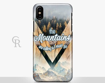 Mountains Are Calling iPhone 7 Case For iPhone 8 iPhone 8 Plus - iPhone X - iPhone 7 Plus - iPhone 6 - iPhone 6S - iPhone SE - Samsung S8