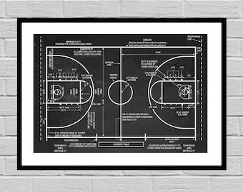 Basketball Patent, Basketball Coach Gift , Basketball Gift, Basketball Decor, Mancave decor, Gift for him, Basketball art, Basketball Court