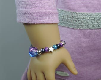 Galaxy Beads and Stars Bracelet for American Girl Doll Luciana Vega GOTY 2018 and other 18 inch dolls