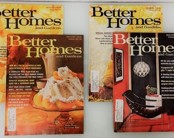1967 Better Homes and Gardens Magazine - Includes Four Issues / August-September-October-November