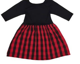 Buffalo Plaid Dress - Toddler Dress Baby Dress Girls Dress Girl Dress Holiday Dress Girl Dress Girl Clothes Toddler Clothes Baby Clothes
