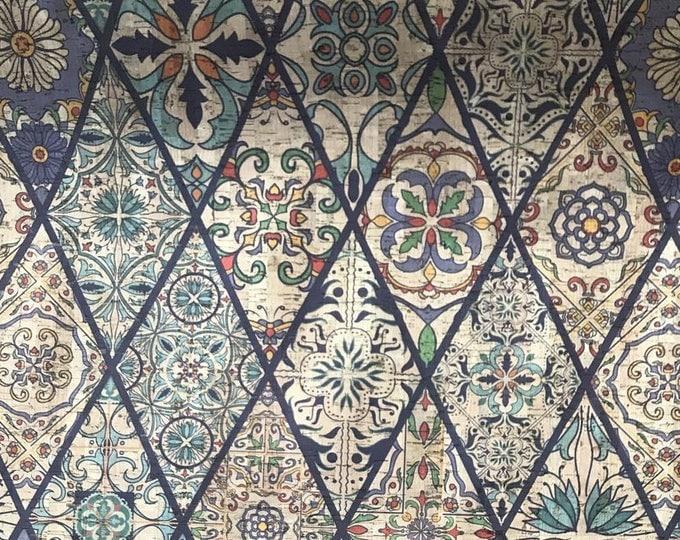 Diamond Patterned Cork Fabric