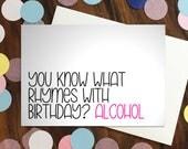 Birthday card - 'You kn...