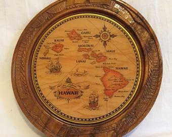 Vintage Hawaiian Souvenir Plate
