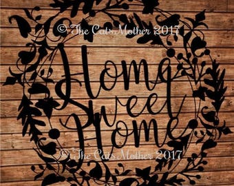 Home Sweet Home template for paper cutting - Personal And Commercial Use PDF