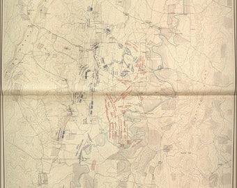 Chickamauga Etsy - Battle of chickamauga map