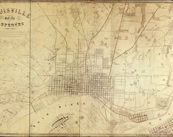 Poster, Many Sizes Available; Map Of Louisville Kentucky And Its Defences 1865