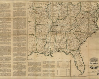 Poster, Many Sizes Available; Historical War Map 1862 Civil War P2