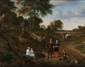 Poster, Many Sizes Available; Portrait Of A Couple With Two Children And A Nursemaid In A Landscape By Adriaen Van De Velde