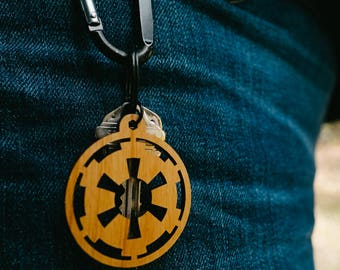 Star Wars Galactic Empire Laser Etched Wood Key Chain