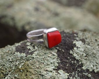 Red coral Ring size 10