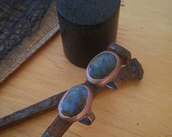 The Viewing Pool labradorite copper ring custom made to order