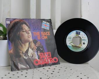 Vintage Record Suzi Quatro -The Race Is On Original condition.