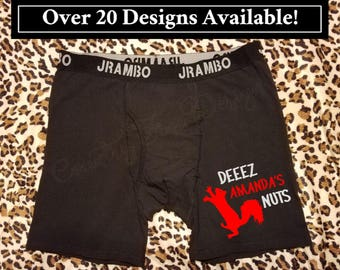 Valentine's Day Gift for Him, Mature, Deez My Nuts, Personalized Underwear, Gift for Him, Boxer Briefs, Gift For Husband, Gift for Boyfriend