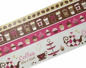 30% OFF ENTIRE STORE Beautiful Coffee Rolls Of Decorative Paper Tape