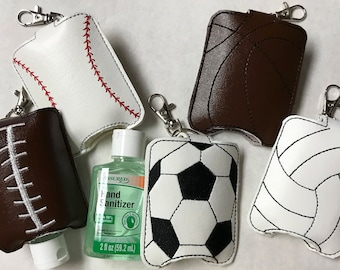 Sports Hand Sanitizer Holders, Baseball, Basketball, Football, Soccer, Volleyball