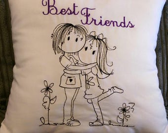 Best Friends Mini Cushion