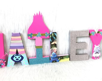 Trolls Birthday Letters Decorations Room Decorations Birthday Party