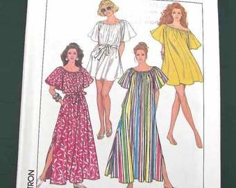 1989 Simplicity Pattern #9209 Women's Cover-up Muu Muu in Two Lengths Size MD-XXL Uncut